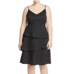 NWT City Chic Tiered Polka Dot Print Dress